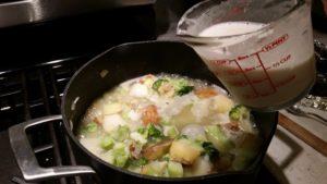 broccoli cheese and potato soup