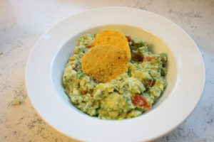 chunky restaurant style guacamole