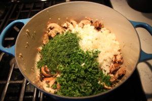 4 cheese ravioli and kale soup