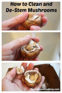 How to de-stem mushrooms