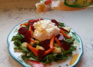 cottage cheese and beet salad