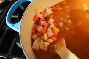 Ham, Spinach, & Cannellini Bean Soup