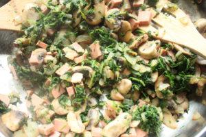 ham and spinach quiche