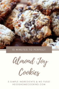 This 13 minute Almond Joy Cookie recipe is super easy because it only has 5 simple ingredients. Coconut and chocolate is one of my favorite flavor combinations so I knew I had to try this. I'm glad I did because they are so delicious! They are so addicting! Whenever I see one all I can think is,