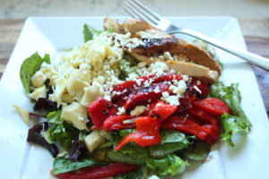 grilled chicken and artichoke salad