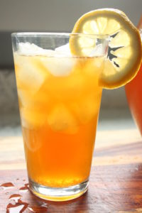 iced black tea lemonade