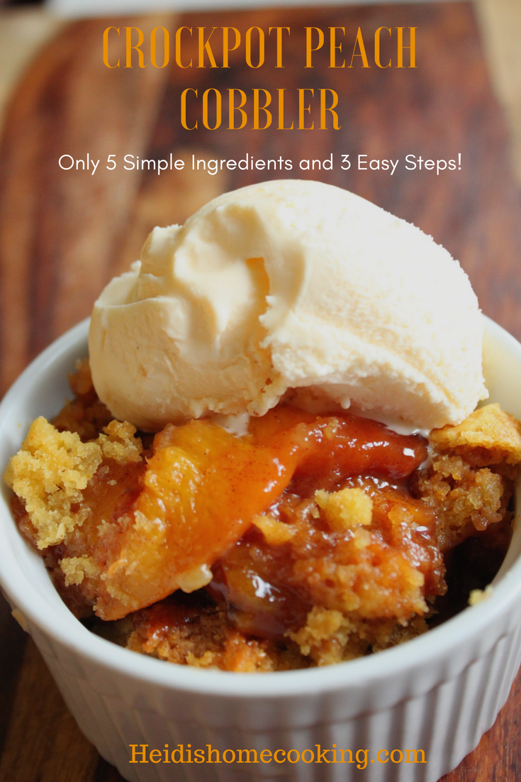 crockpot peach cobbler