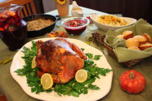 tuscan style roasted turkey thanksgiving dinner