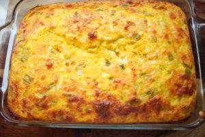 chile cheese quiche