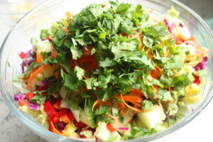 Thai Salad with peanut sauce