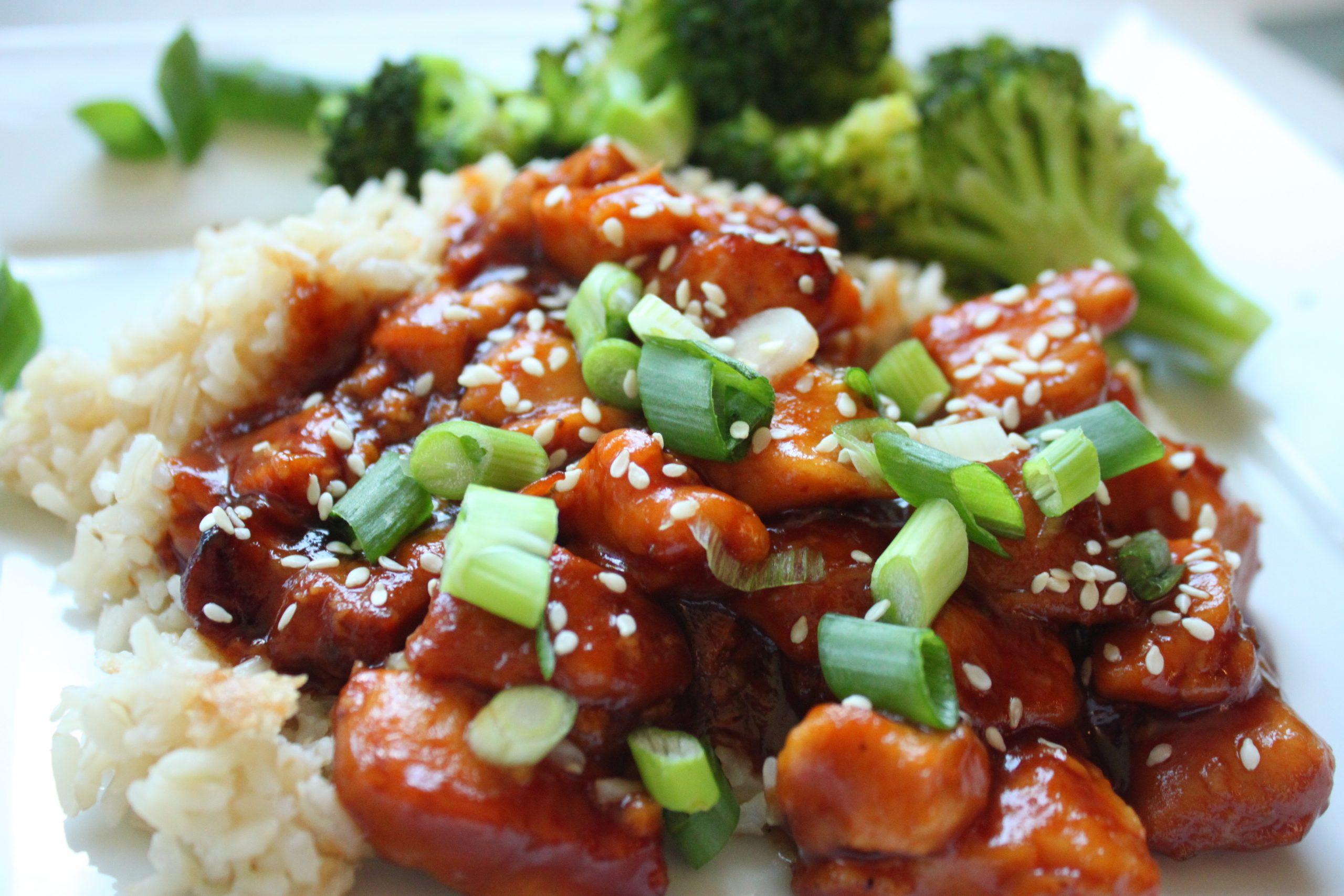 5 Ingredient Crockpot Orange Chicken with Broccoli
