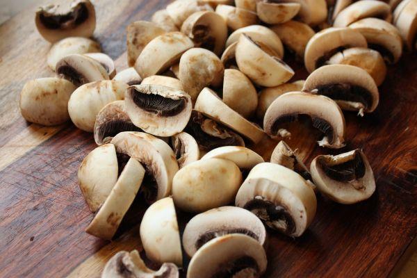 mushrooms cut