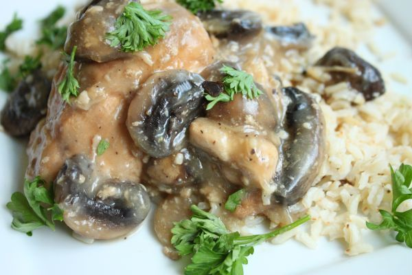 White Wine Chicken and Mushrooms