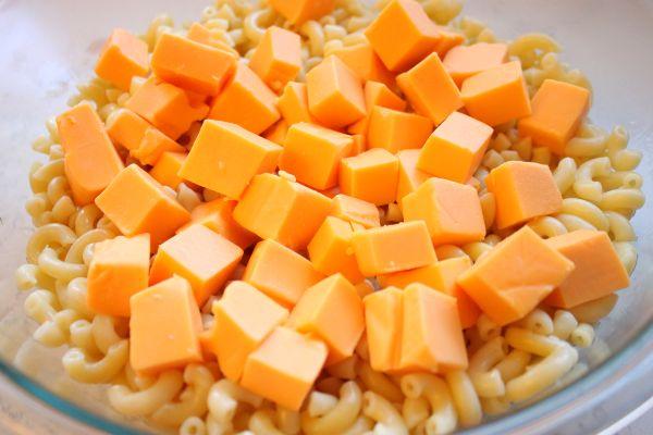Adding Velveeta to Macaroni and Cheese