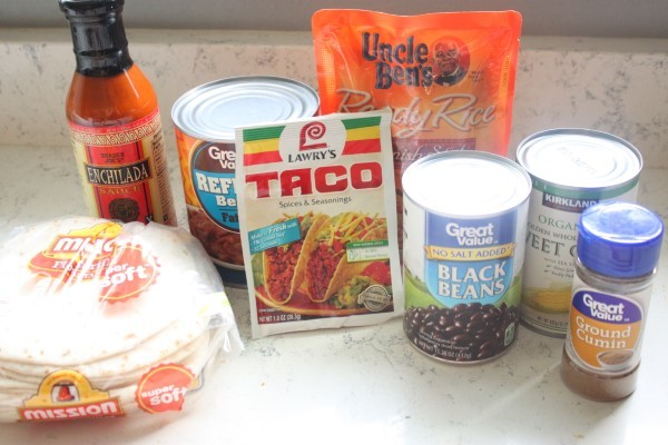 Burrito Lasagna Ingredients