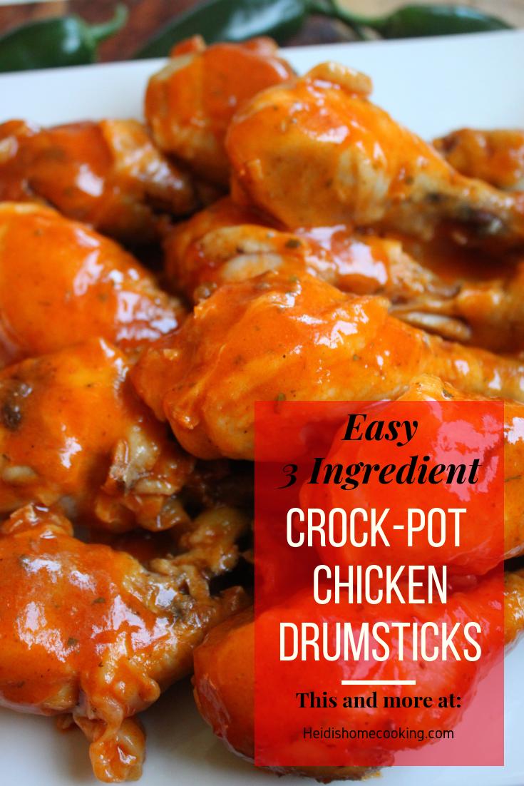 Easy 3 Ingredient Crock-Pot Chicken Drumsticks