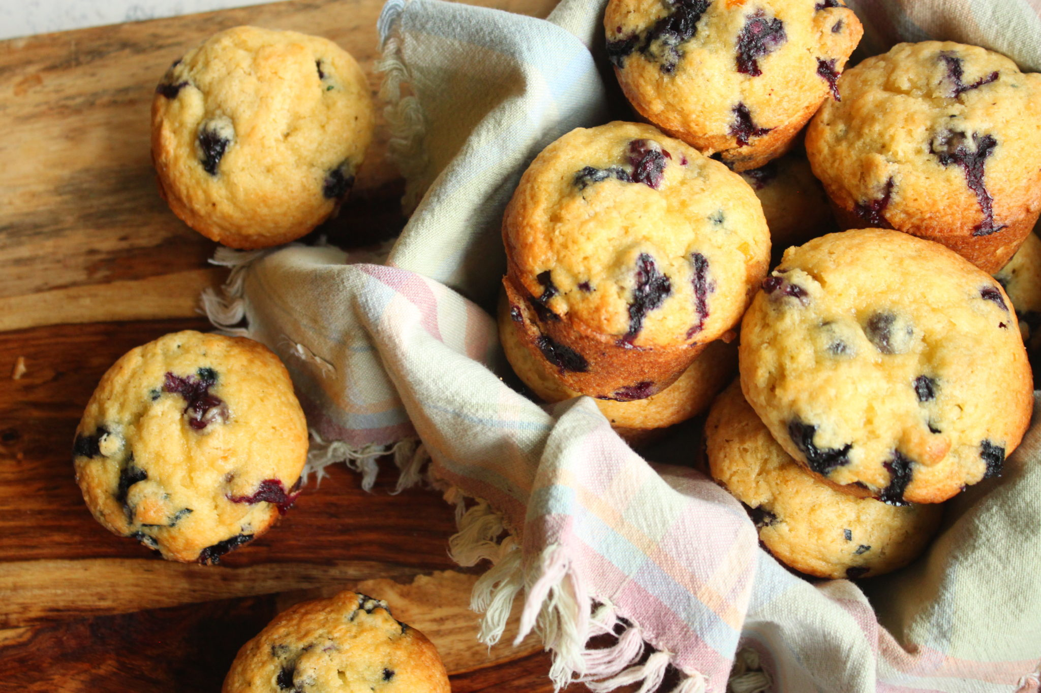 Extra Fluffy Blueberry Muffins