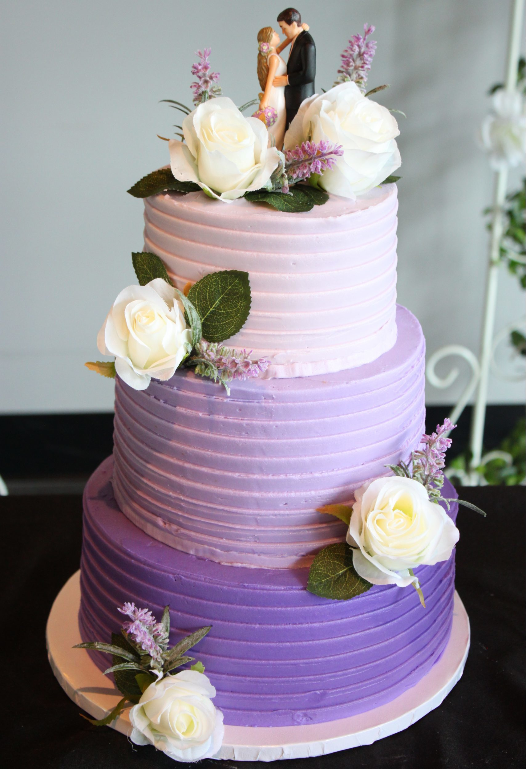 Purple Three Tier Cake