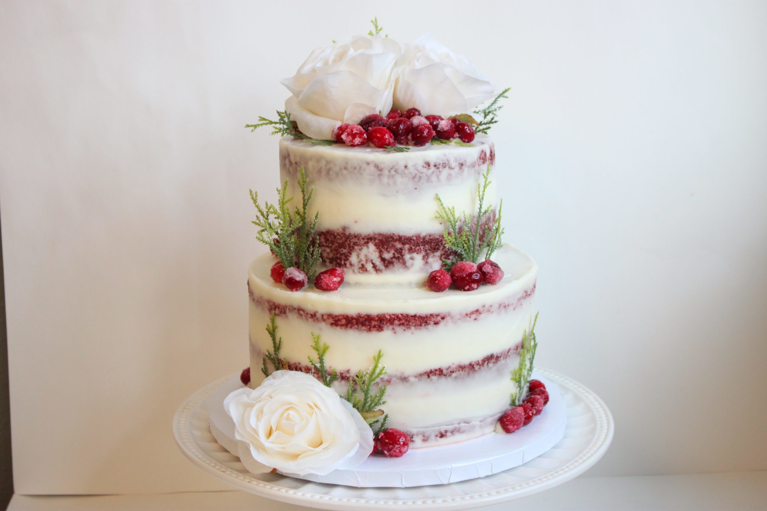 Rustic Holly Berry Cake