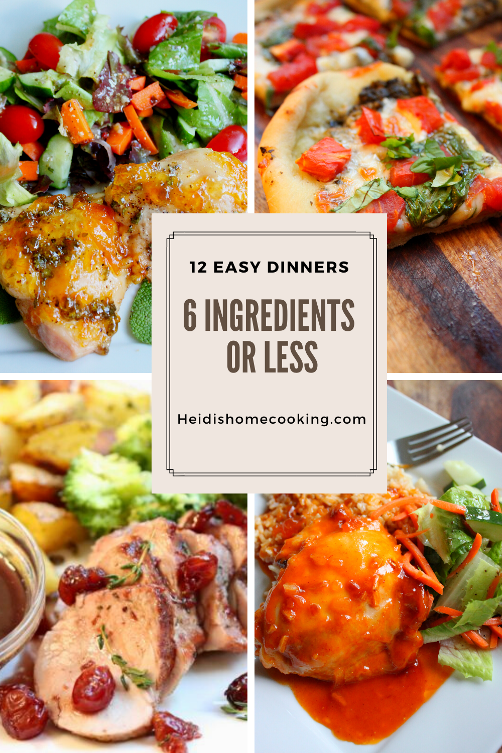12 easy dinners with 6 ingredients or less