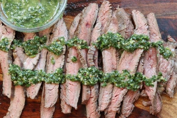 flank steak with chimmichuri