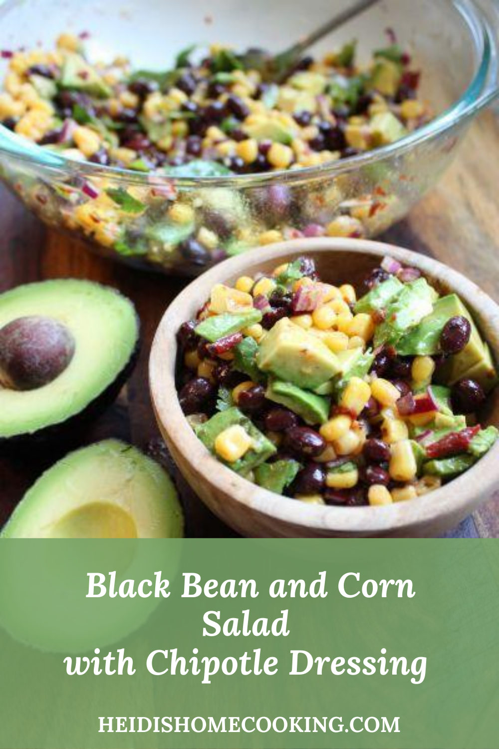 black bean and corn salad with chipotle dressing