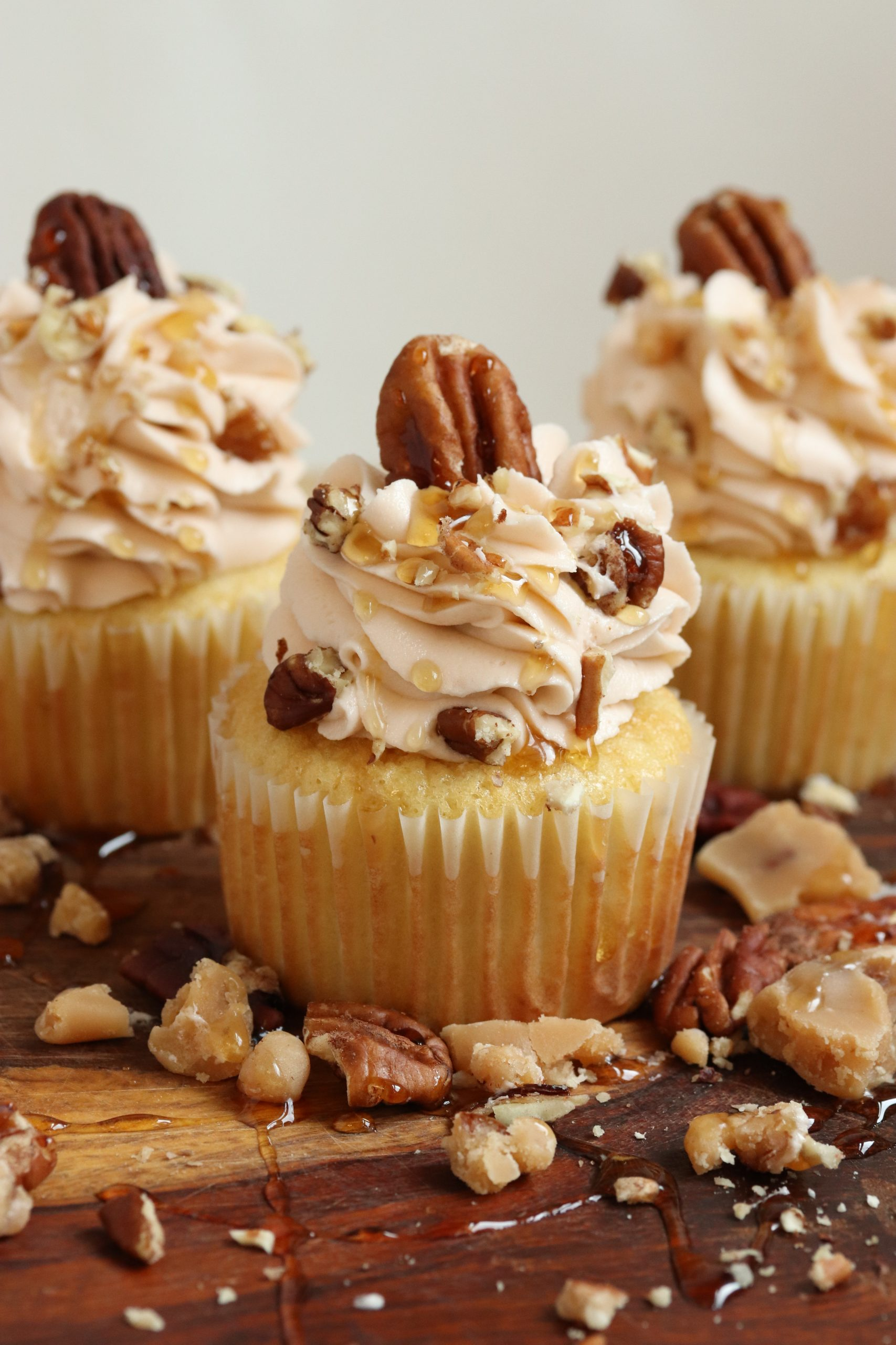 Maple Praline Cupcake - Vertical