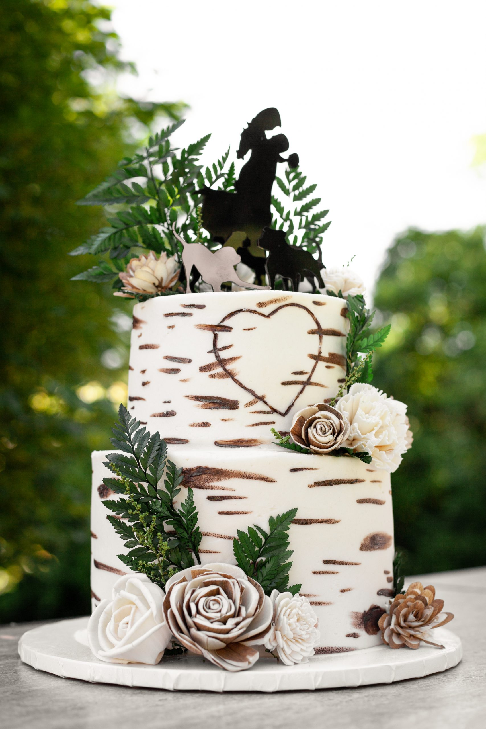 Birchwood Wedding Cake Wood Flowers