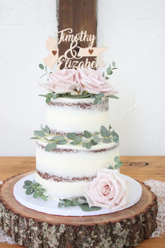 Naked Chocolate Cake with Eucalyptus