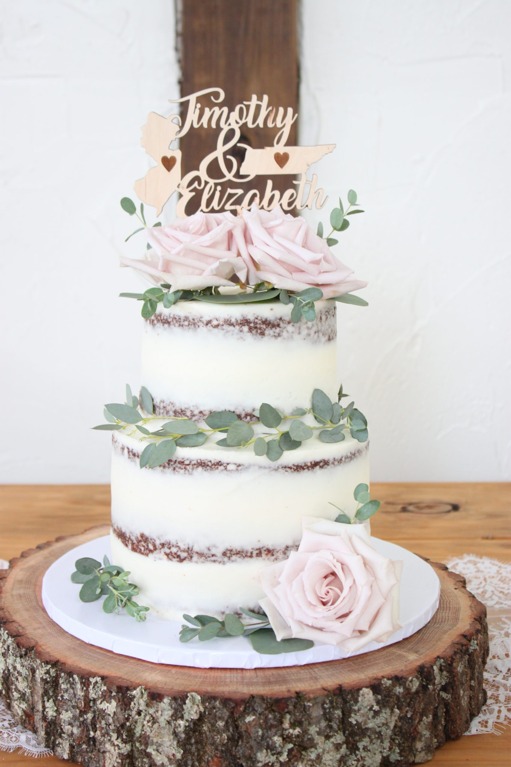 Naked Chocolate Cake with Eucalyptus