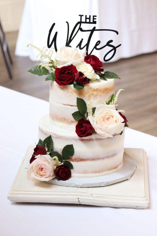 Naked Almond Wedding Cake