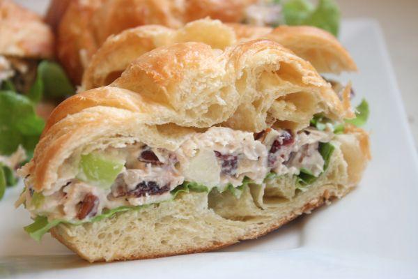 chicken salad sandwich halves