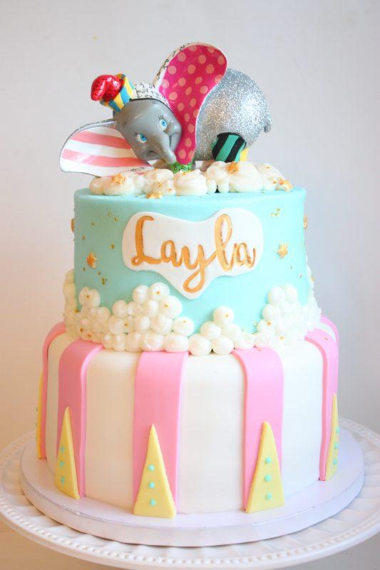 Dumbo Circus Fondant Cake