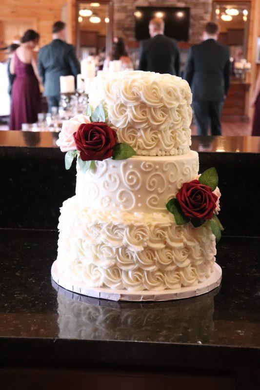 Elegant Rosette Wedding Cake