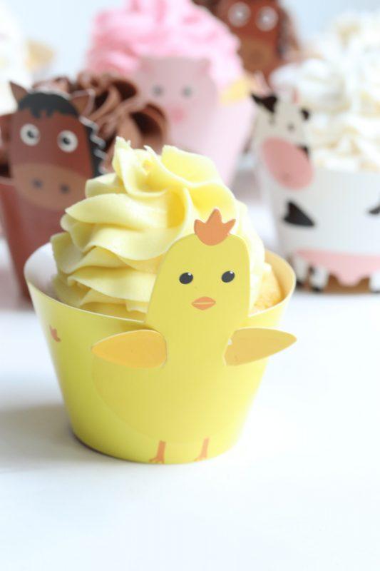 Farm Animal Cupcake