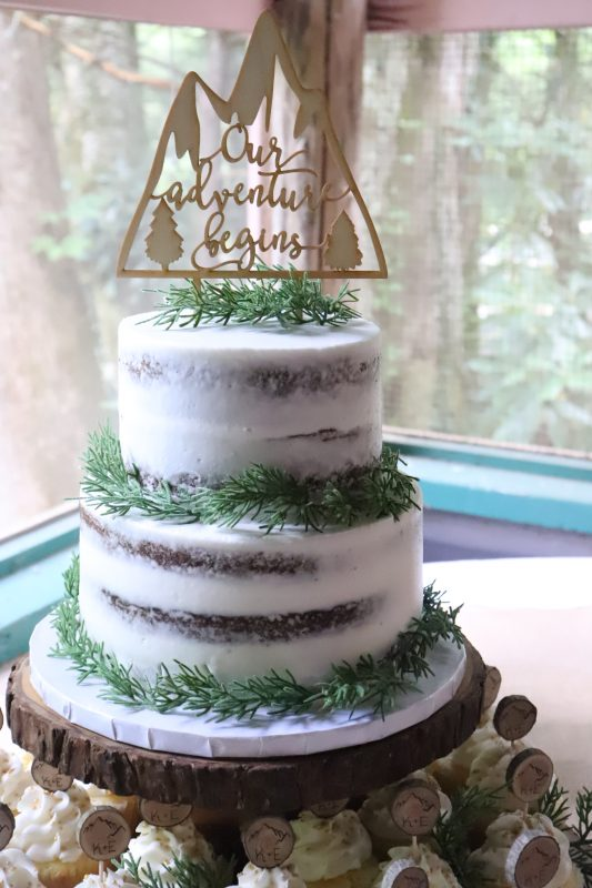 Forest Themed Naked Cake