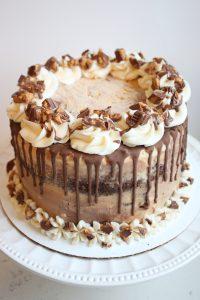 Peanut Butter and Chocolate Ice Cream Cake
