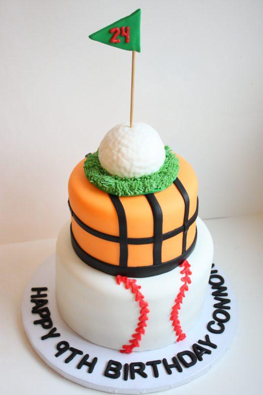 Sports Fondant Cake